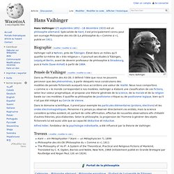 Hans Vaihinger - Wikipédia