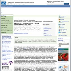 CDC EID Déc 2002 Puumala hantavirus Infection in Humans and in the Reservoir Host, Ardennes Region, France, F. Sauvage