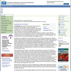CDC EID Janv 2002 First Reported Case of Imported Hantavirus Pulmonary Syndrome in Europe