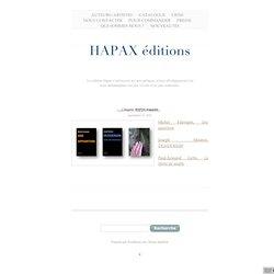 HAPAX magazine «