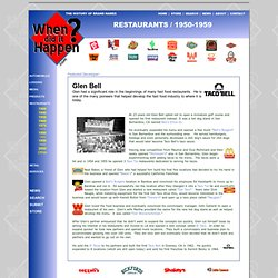 When did it Happen? Restaurant Timeline 1950-1959