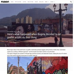 Here's what happened when Bogota decided to let graffiti artists do their thing