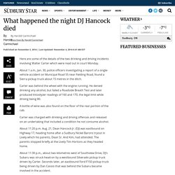 What happened the night DJ Hancock died