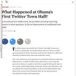 What Happened at Obama's First Twitter Town Hall?