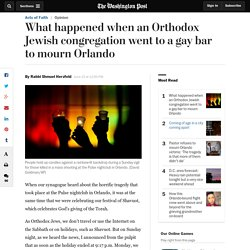 What happened when an Orthodox Jewish congregation went to a gay bar to mourn...