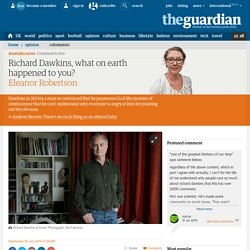Richard Dawkins, what on earth happened to you?