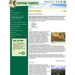 What Is Habitat? - Habitat Types