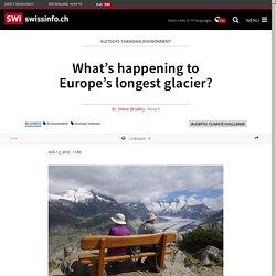 What's happening to Europe's longest glacier?