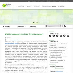 What is Happening in the Cyber Threat Landscape?