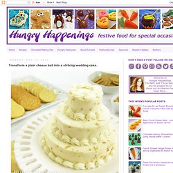 Transform a plain cheese ball into a striking wedding cake.