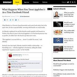 What Happens When You Treat Applebee's As a True Facebook Friend