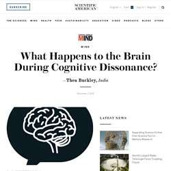 What Happens to the Brain During Cognitive Dissonance?