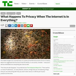 What Happens To Privacy When The Internet Is In Everything?