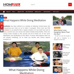 What Happens While Doing Meditation (5 Steps) - HowFlux