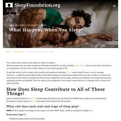 What Happens When You Sleep? - National Sleep Foundation