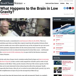 What Happens to the Brain in Low Gravity?
