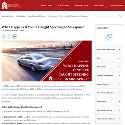 (Negative Reinforcement) What Happens If You're Caught Speeding in Singapore?