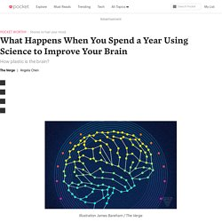 What Happens When You Spend a Year Using Science to Improve Your Brain - The Verge - Pocket