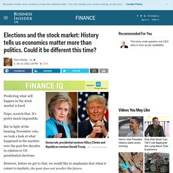 Elections and the stock market: History tells us economics matter more than politics. Could it be different this time?