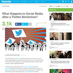 What Happens to Social Media After a Twitter Revolution?