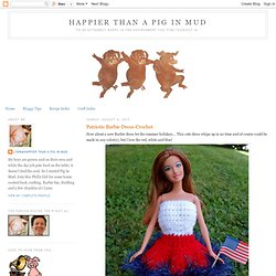 Patriotic Barbie Dress-Crochet