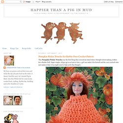 Barbie Pumpkin Pickin' Poncho: Crochet