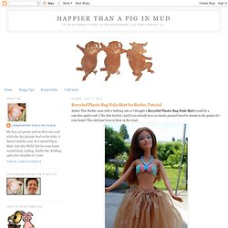 Plastic Bag Hula Skirt For Barbie: No Sew