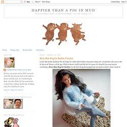 Bear Skin Rug For Barbie - Crochet