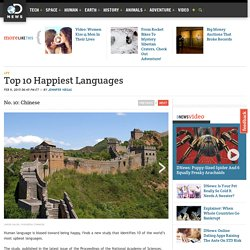 Top 10 Happiest Languages