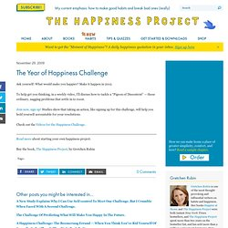 The Happiness Project: The Year of Happiness Challenge