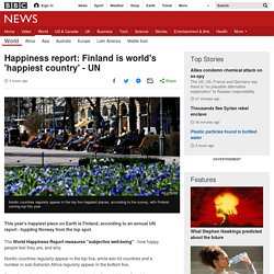 Happiness report: Finland is world's 'happiest country' - UN - BBC News