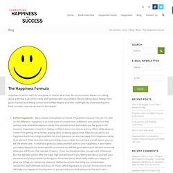 Connecting Happiness and Success