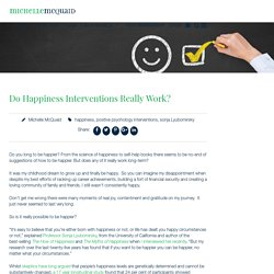 Do Happiness Interventions Really Work?