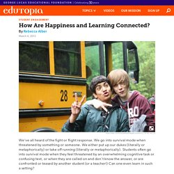 How Are Happiness and Learning Connected?