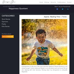 Happiness Quotient – Darpan Jha