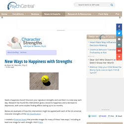 New Ways to Happiness with Strengths