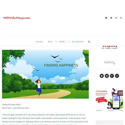 Day 1 - Finding My Happiness