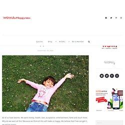 How Do I Find My Happiness - WOWzforHappyness