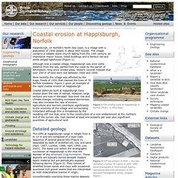 Coastal erosion at Happisburgh
