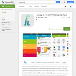 Happy: A Recommendation App