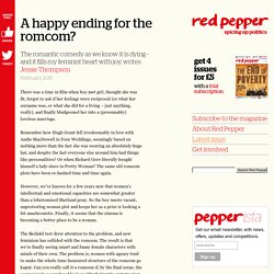 A happy ending for the romcom?