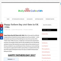 Happy Fathers Day 2017 Date in UK / USA