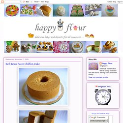 Red Bean Paste Chiffon Cake