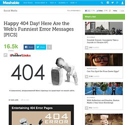 Happy 404 Day! Here Are the Web's Funniest Error Messages [PICS]