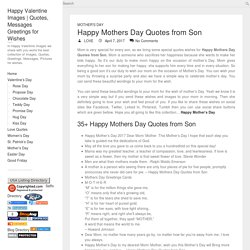*35+ Happy Mothers Day Quotes from Son to Mom