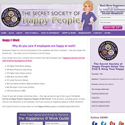 Happy @ Work - The Secret Society of Happy People