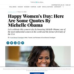 Happy Women's Day: Here Are Some Quotes By Michelle Obama