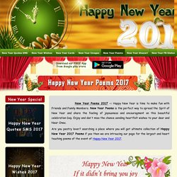 Happy New Year Poems 2017, New Year Poems, Poetry