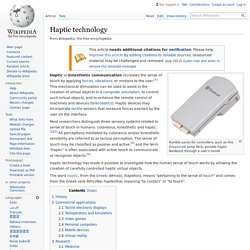 Haptic technology - Wikipedia