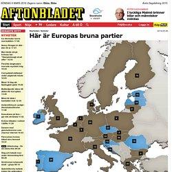 Här är Europas bruna partier